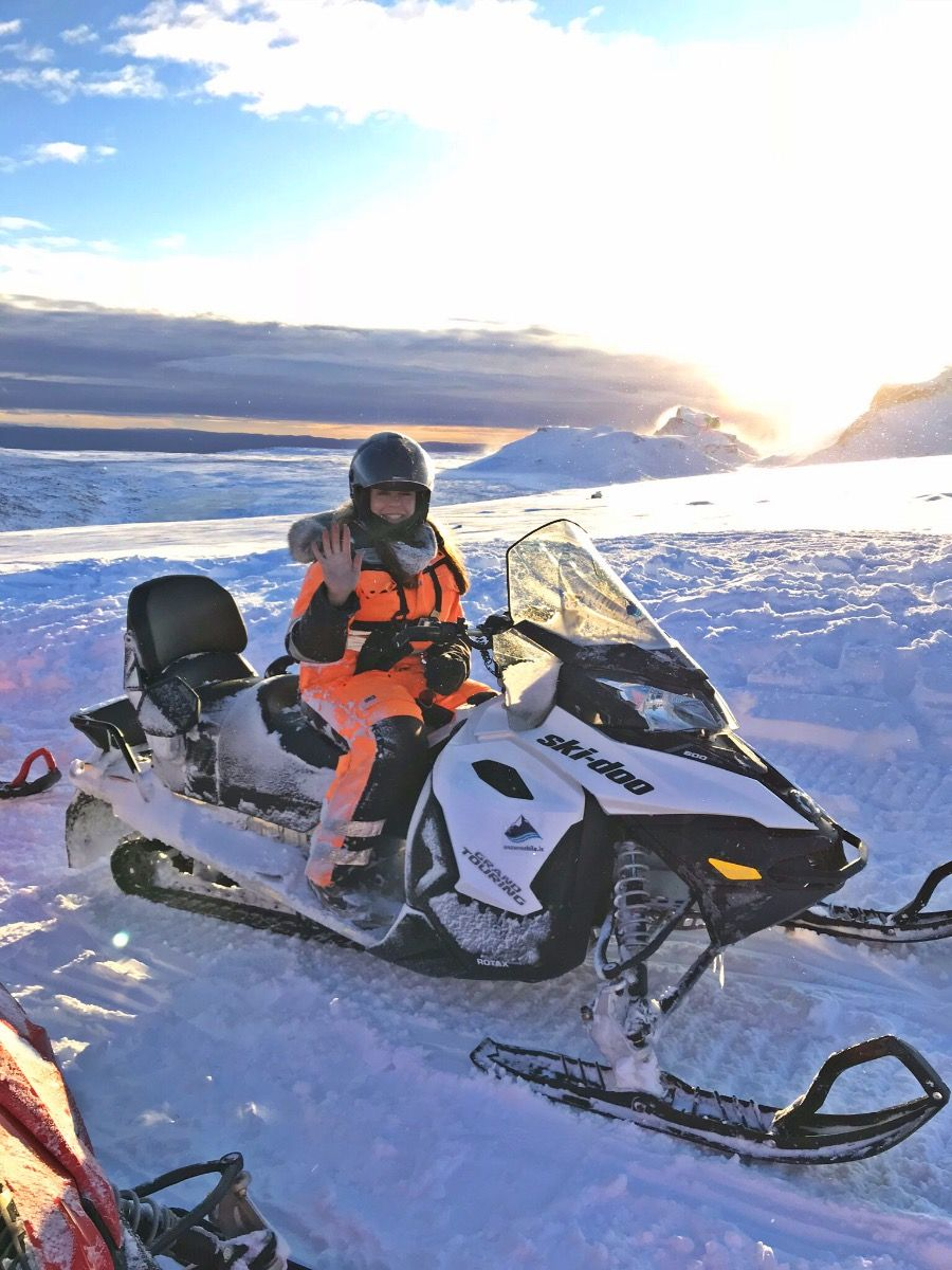 snowmobiling on glacier iceland Snowmobile, Iceland