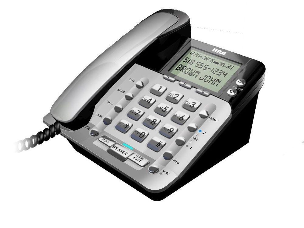 RCA-1223-1BSGA 2-Line Corded Caller ID Speakerphone | RCA