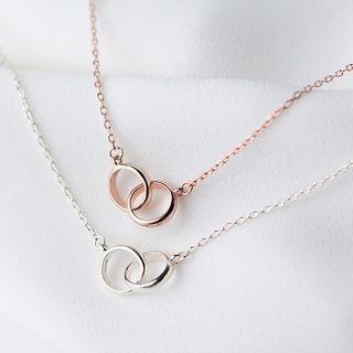925 sterling silver ring pendant necklace silver ring sterling buy aroch 925 sterling silver ring pendant necklace at yesstyle quality mozeypictures Choice Image