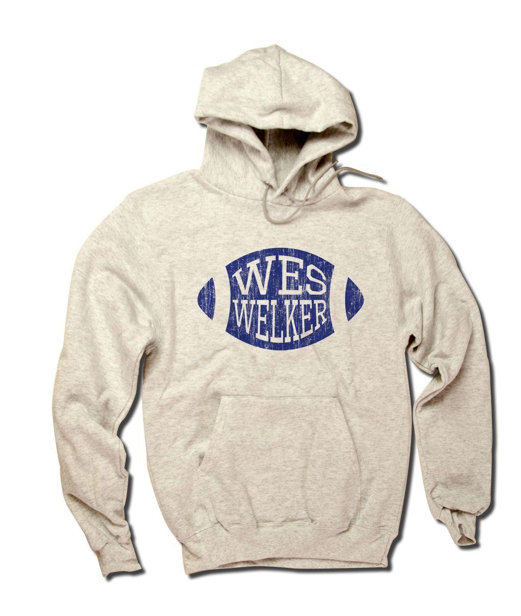 Wes Welker Football Blue