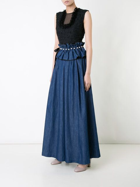 Huishan Zhang джинсовые брюки палаццо с поясом