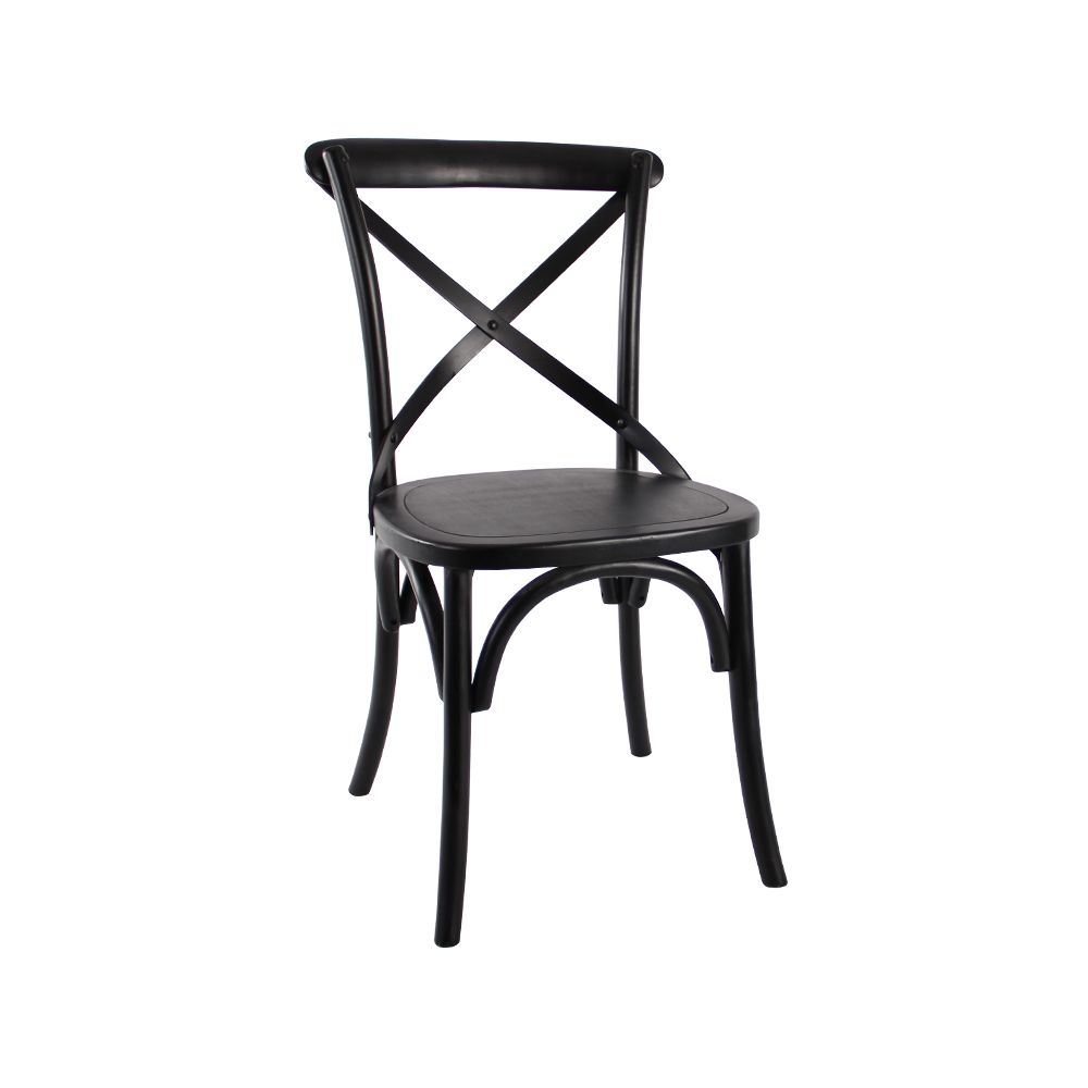 Marvelous Cross Back Bentwood Chair In Black