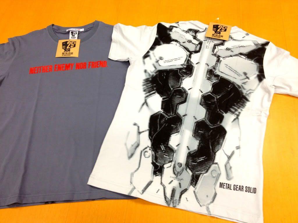 metal gear 25th anniversary shirt