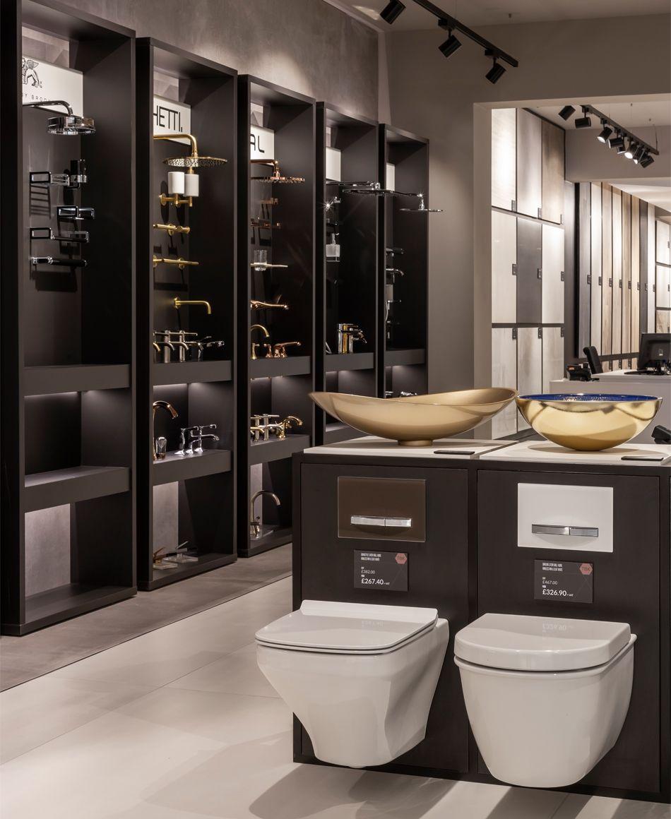 Tbk Design Bathrooms London In 2020 Showroom Interior Design Tile Showroom Showroom Design