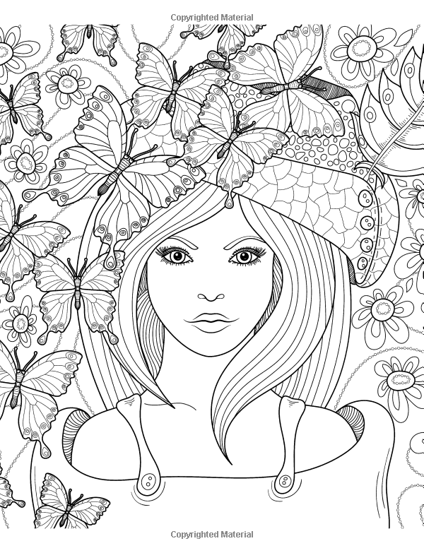 Pretty Girl Coloring Pages For Teenage Girl : pretty, coloring, pages, teenage, !!!Adult, Coloring, Pages