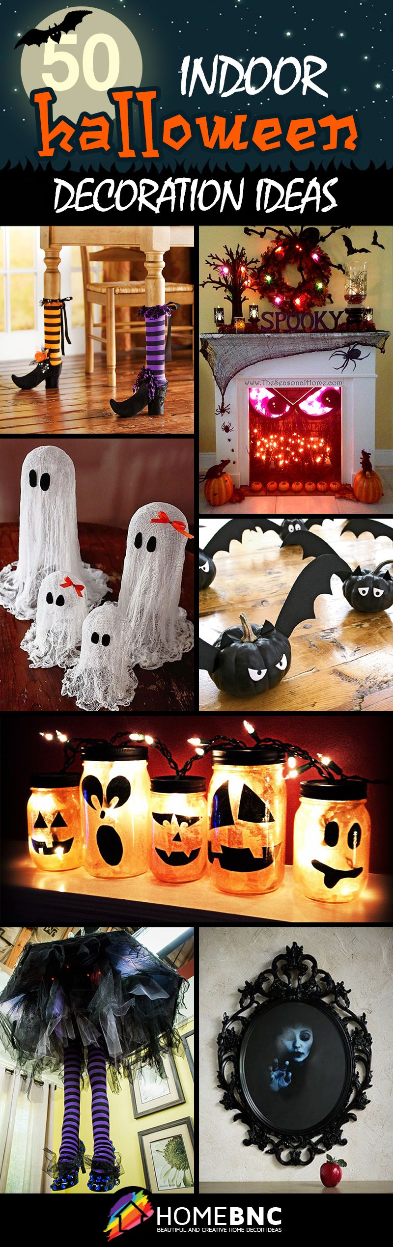 50 indoor decorations that take halloween to the next for Cheap diy indoor halloween decorations