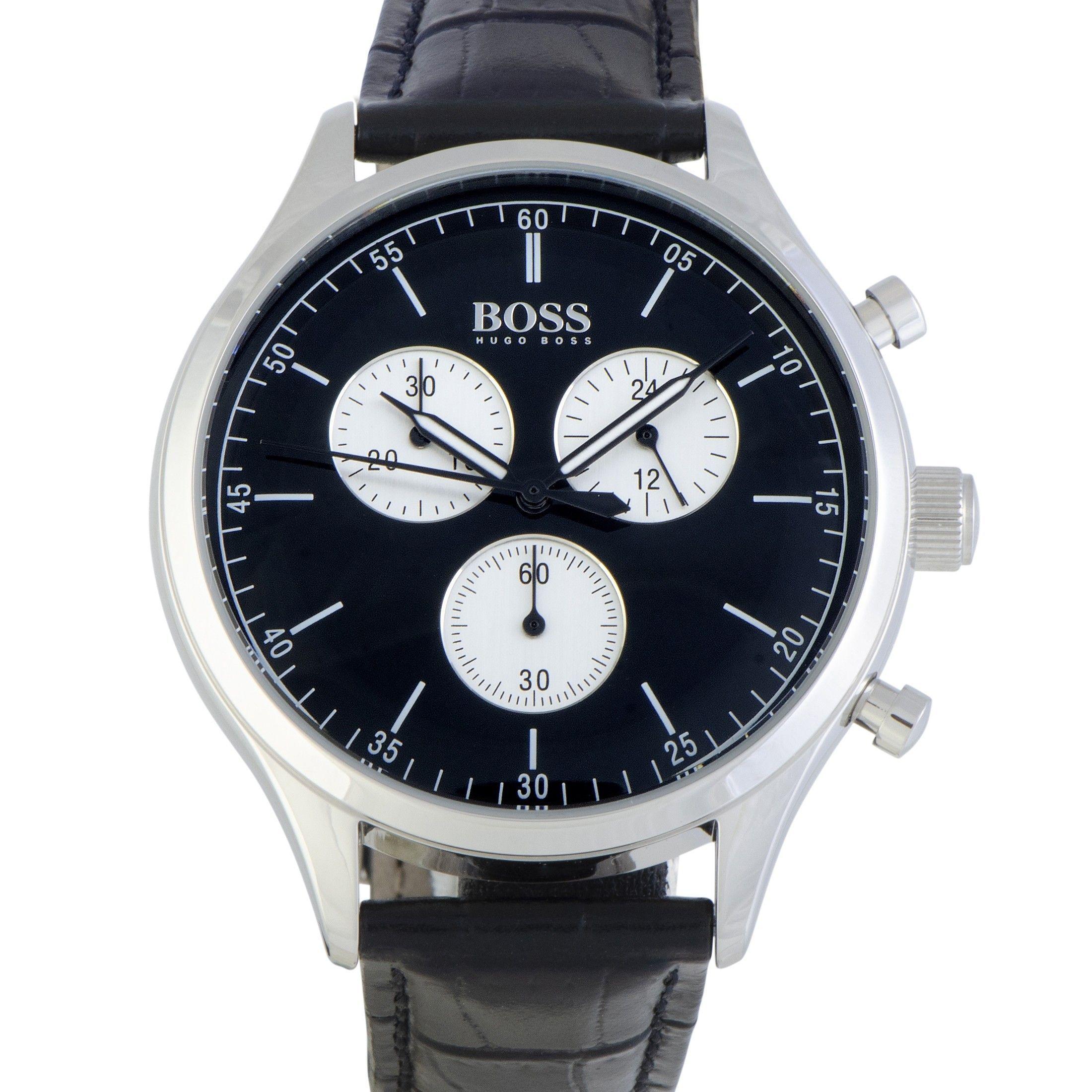 efb8a07d1 Hugo+Boss+Companion+42mm+Men's+Watch+Black+1513543 | Hugo Boss ...