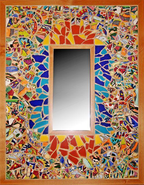 Broken Ceramic Tile Mosaic Of Memories