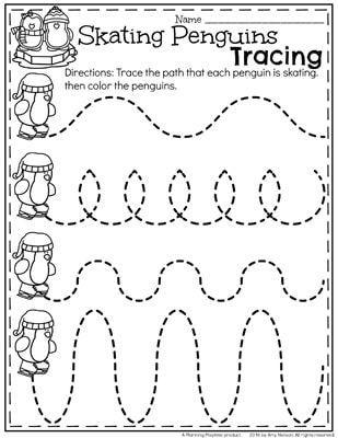 December Preschool Worksheets | Vorschulblätter, Schwungübungen und ...