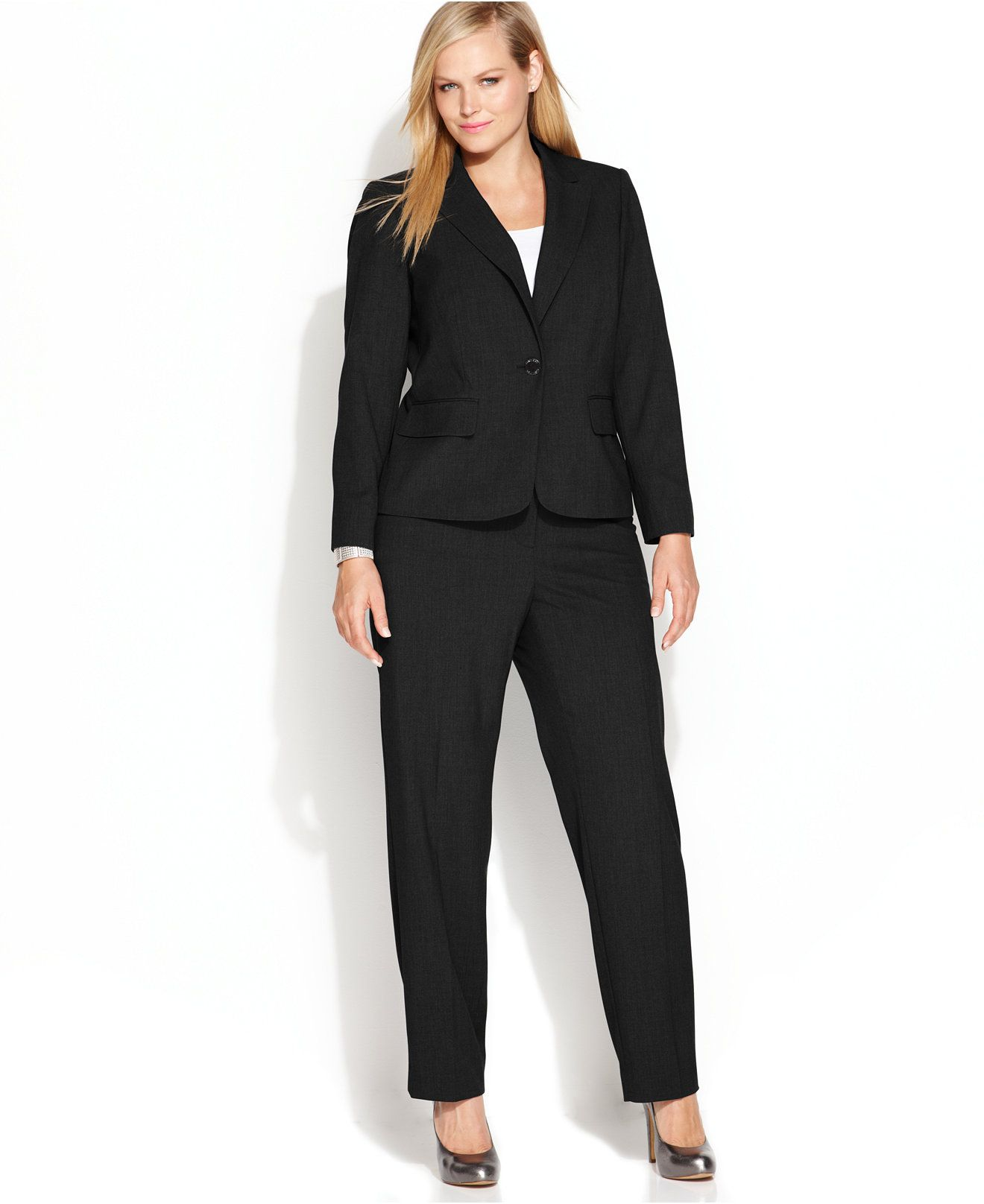 calvin klein plus size suit separates collection - suits & suit