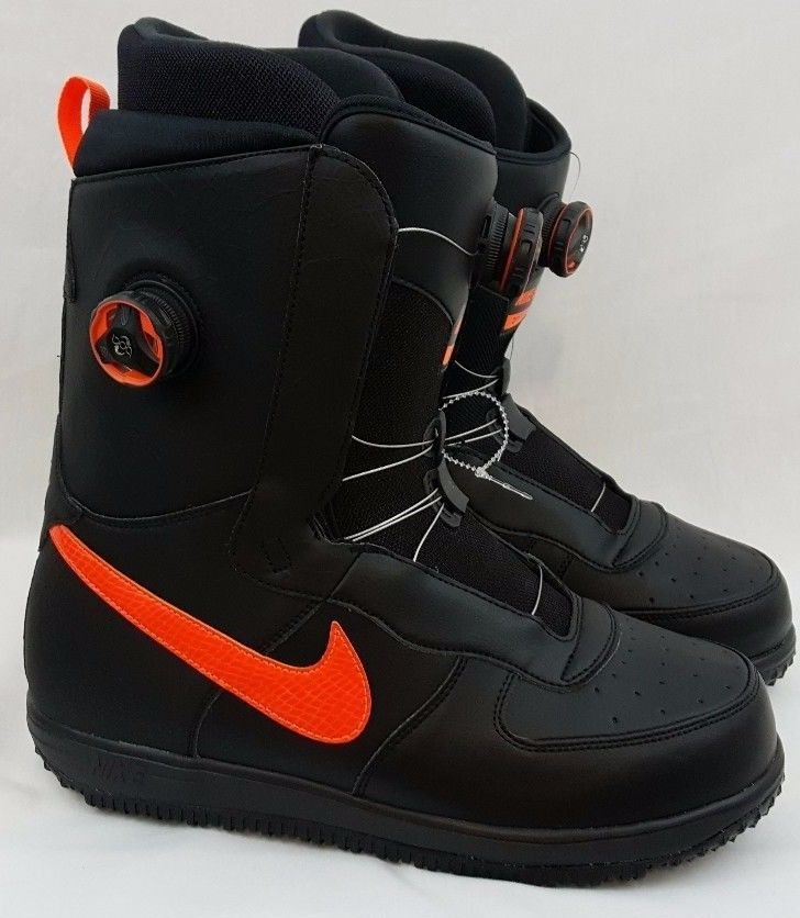 Nike Snowboarding Zoom Force 1 Boa Snowboard Zf1 Black Boots Size 11 586535 002 Nike Snowboarding Boots Snowboard Boots Snowboarding Style