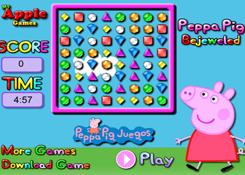 JuegosdePeppa.com - Juego: Peppa Pig Bejeweled Online Juegos Peppa Gratis  Online