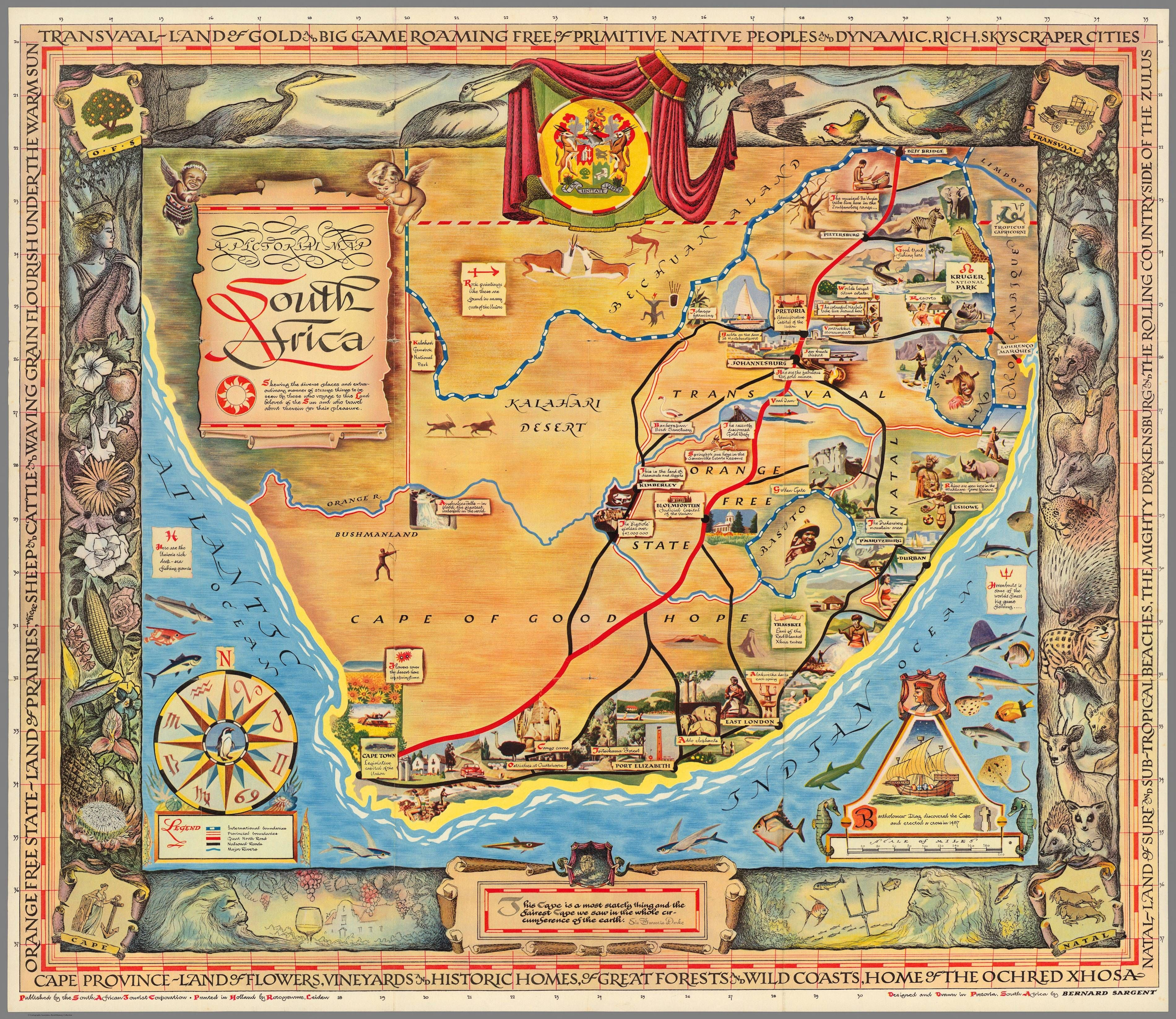 Pictorial map published by the South African Tourist Corporation ...