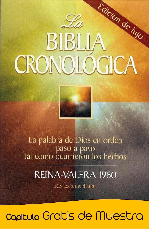 La Biblia Cronologica Biblia Cronologica Libros Cristianos Pdf