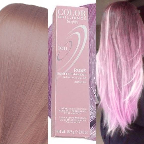 2 Smokey Pink 1 Rose Color Brilliance Hair Dye
