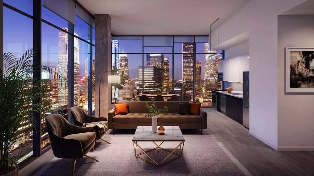 888 Hope Rentals Boutique Luxury Apartments For Rent In Downtown Los Angeles In 2020 Luxury Apartments Los Angeles Apartments City View Apartment