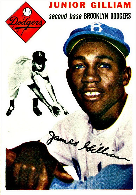 35 Jim Gilliam Brooklyn Dodgers Giants dodgers