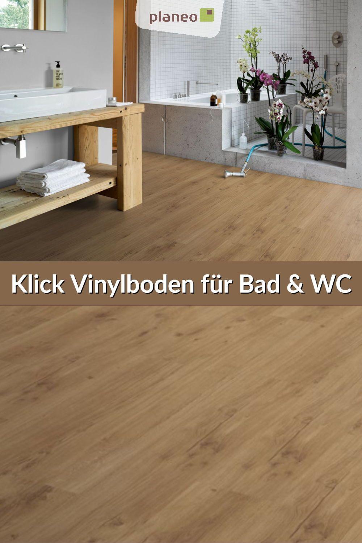 Klick Vinylboden für Bad, WC, und Gäste WC, wasserbeständig ...