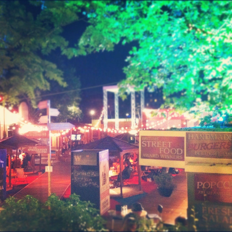 Warming evening entertainment, Jubilee Gardens, London