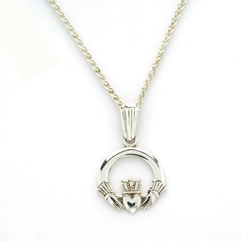 Claddagh baby pendant celtic necklaces pendants rings from claddagh baby pendant celtic necklaces pendants rings from ireland an ideal choice for a childs first piece of jewelry the claddagh baby pendant aloadofball Choice Image