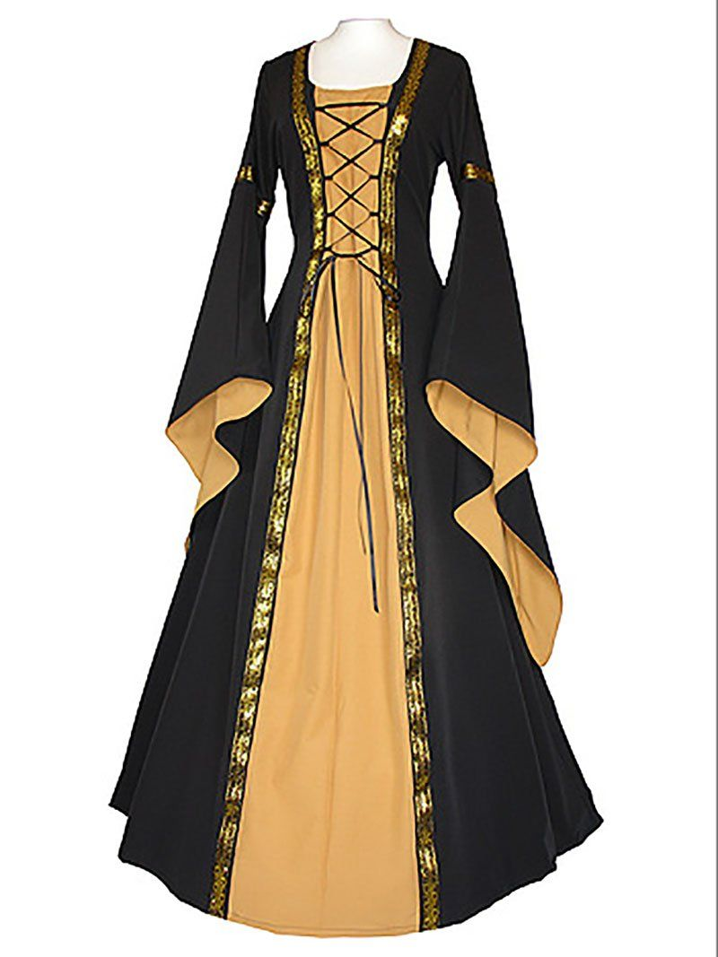 7b20ed4d790c2 Special Use: Costumes Source Type: Historical Gender: Women Components:  Dresses Model Number: CGZ-XPX-CWM-7480 Brand Name: FancyQube Material:  Polyester ...