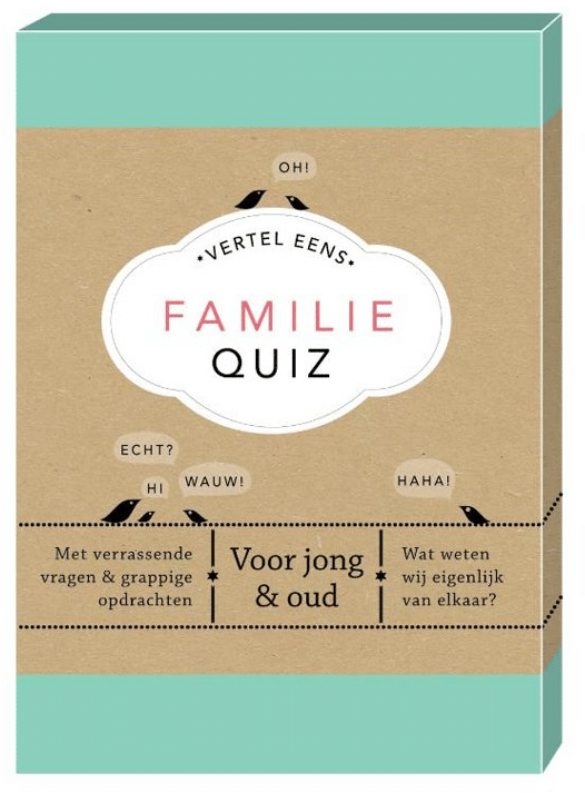Wonderbaarlijk Cadeau voor de hele familie: Familie Quiz (met afbeeldingen QJ-42