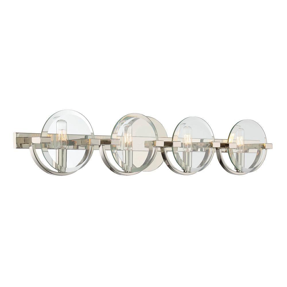 Filament Design 4-Light Polished Nickel Bath Light