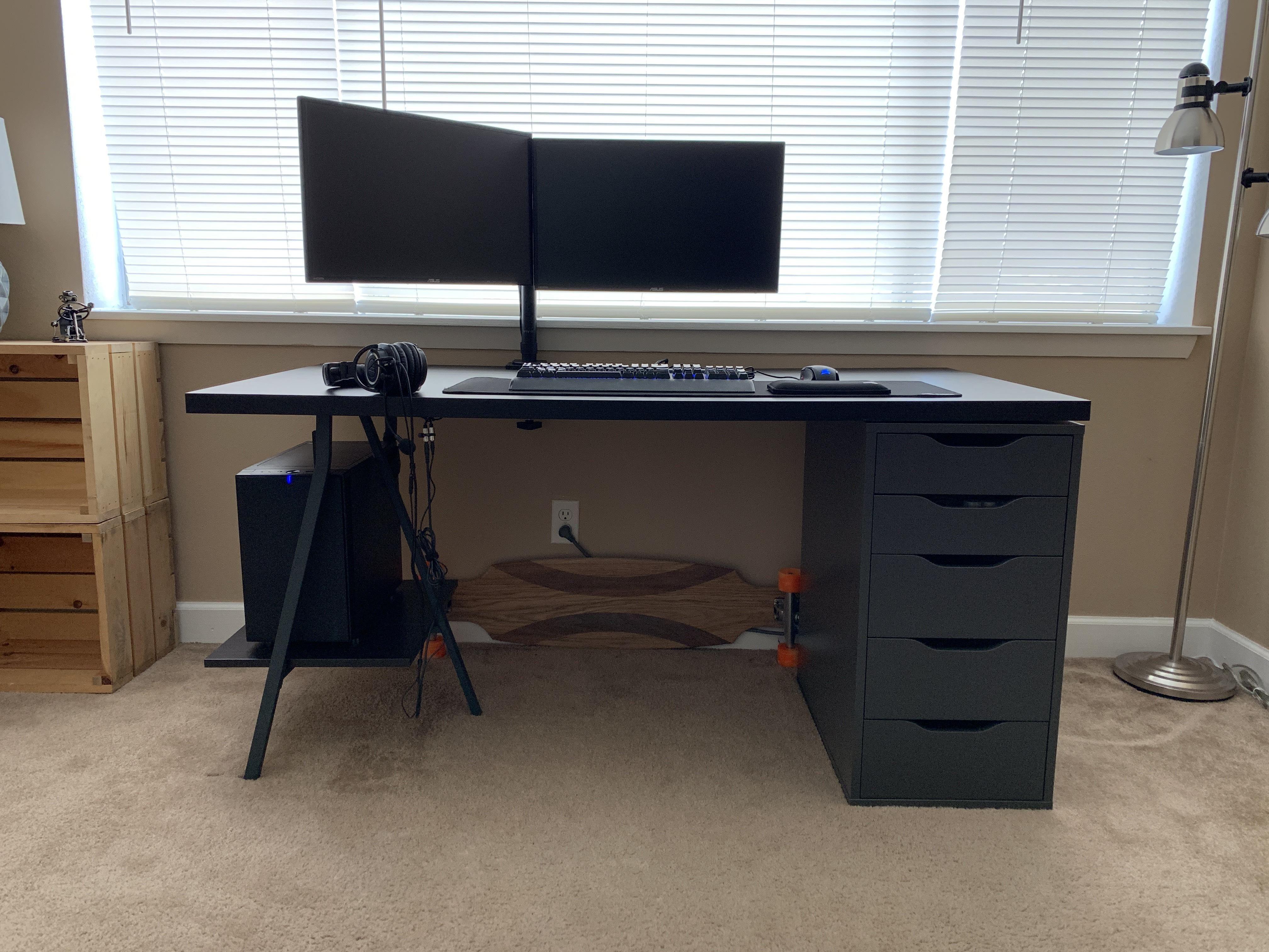 Ikea Desk Hack Links In Description Ikea Desk Ikea Desk Hack Desk Hacks