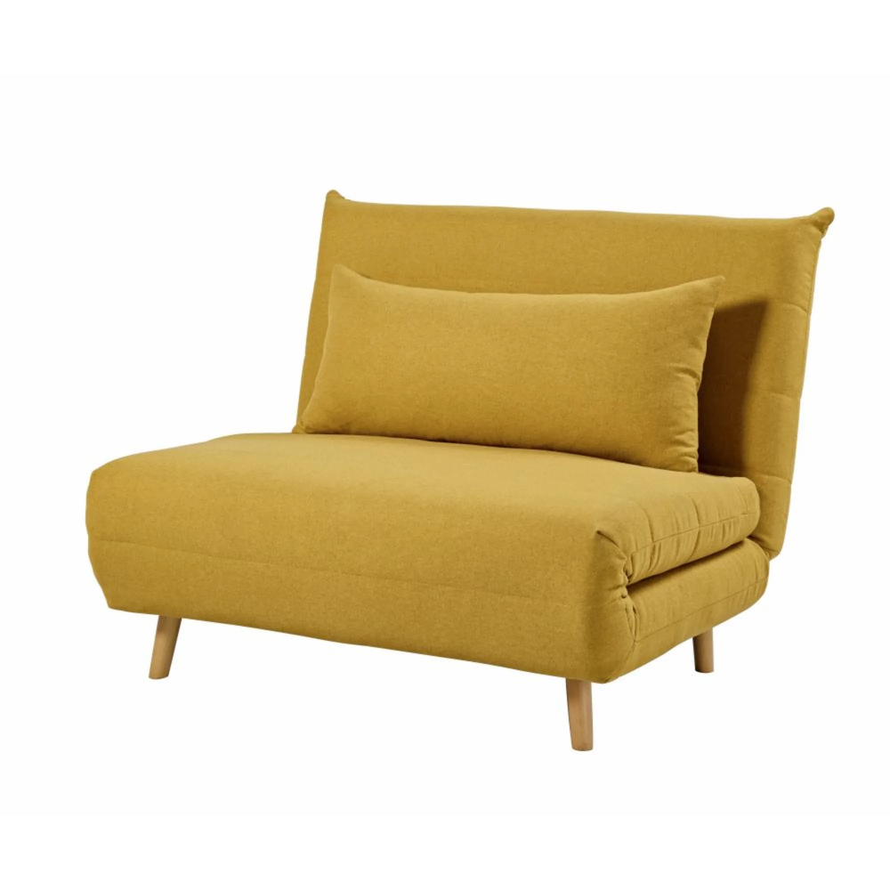 Banquette Convertible 1 Place Jaune Moutarde Yellow Bedding Mustard Bedding Single Day Bed