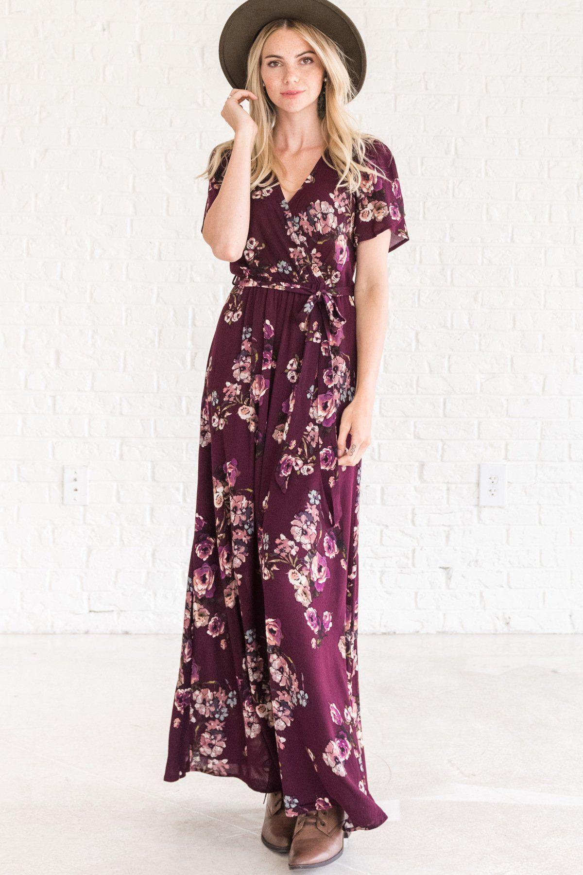 3bc899c9e368 Purple Dress. Purple Floral Maxi   Hat & boots make it boho   Perfect  ...