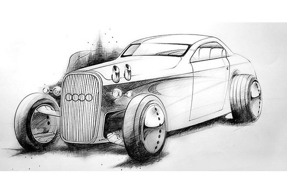 Audi Gentleman's Hot Rod Racer by Mikael Lugnegård | Carscoops