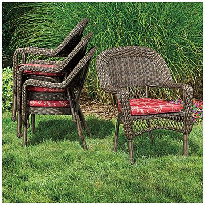 Wilson U0026 Fisher® Resin Wicker Savannah Cushioned Stack Chair At Big Lots.