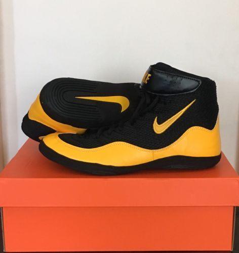 Footwear 79799 Nike Inflict 3 Wrestling Shoes Black Gold