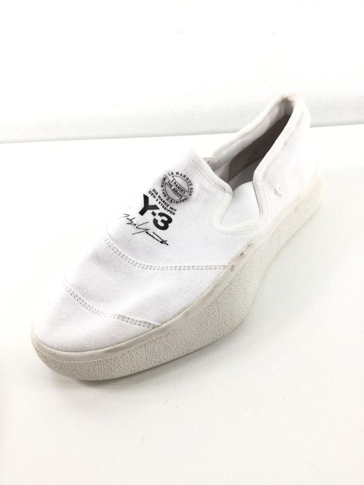 c17e2f78b98b 1736C NEW Adidas Y-3 Tangutsu White Canvas Slip-On Sneakers Men's Sz 7 M  #fashion #clothing #shoes #accessories #mensshoes #casualshoes (ebay link)