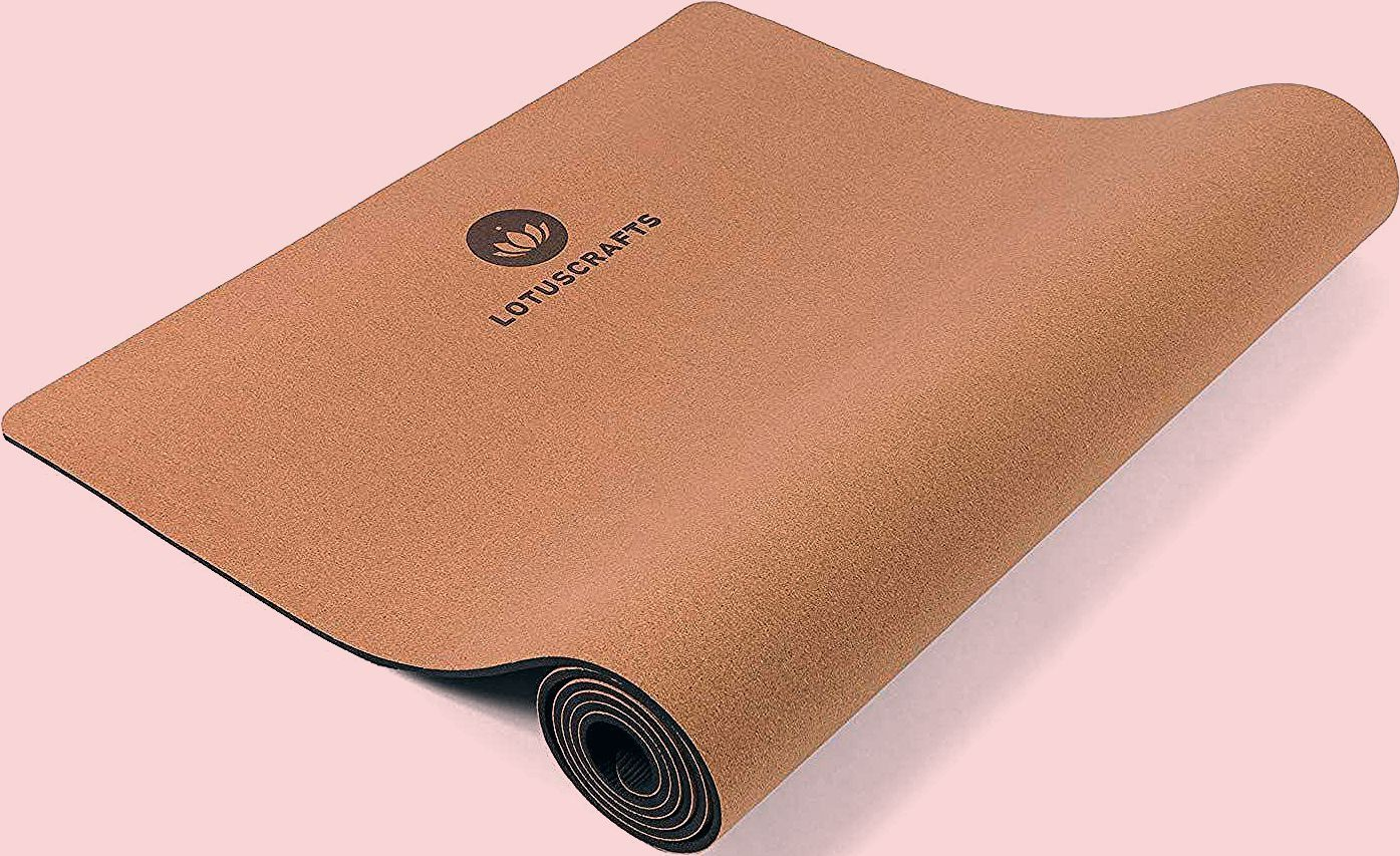 Lotuscrafts Cork Yoga Mat - Non-Slip Sweatproof Surface - 100% Recycleable Materials - Non Slip Yoga...