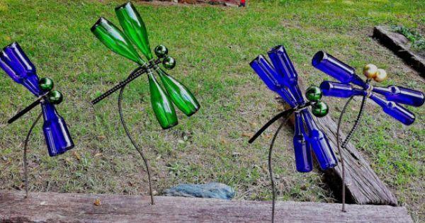 Lovely 12+ DIY Glass Bottles Garden Decor