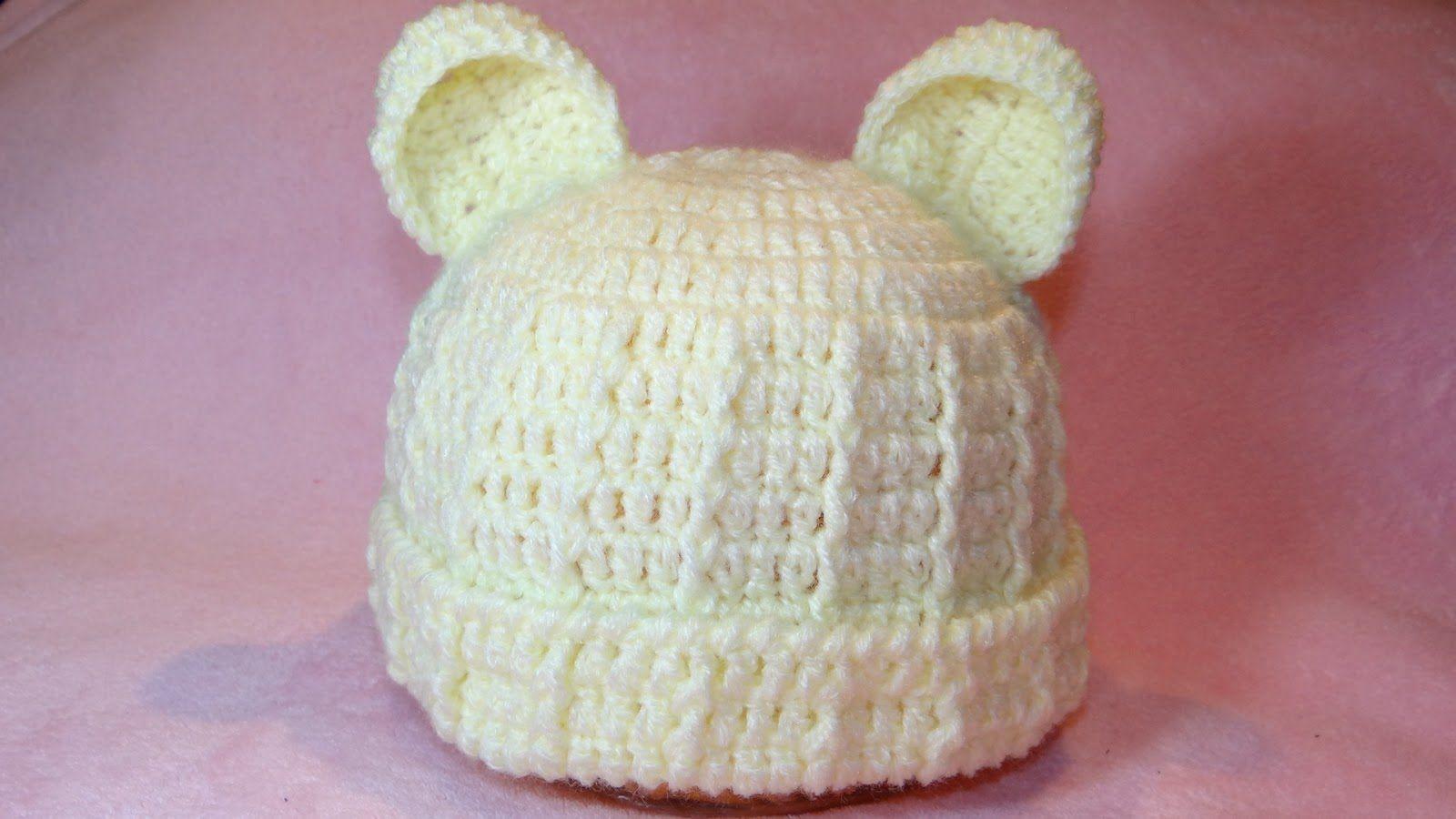 ✿ ❤ Touca Ursinho para Bebê Parte #1 - Professora Simone | crochet ...