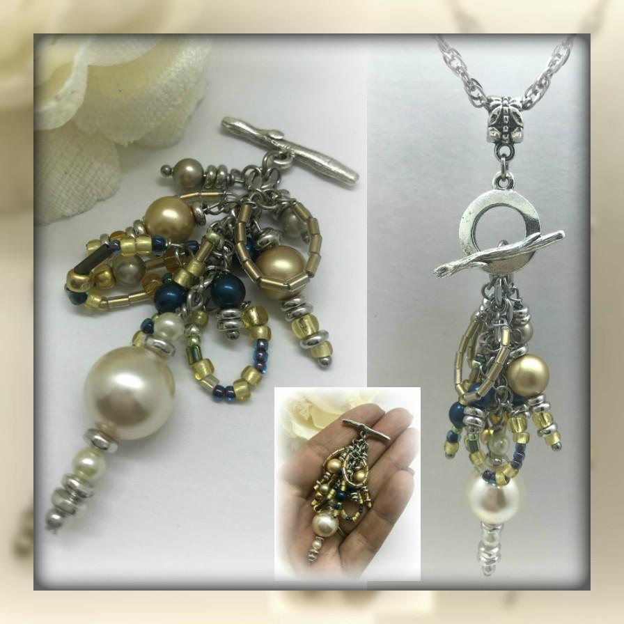 Seed bead and swarovski pearl interchangeable beaded pendant seed bead and swarovski pearl interchangeable beaded pendant necklace 1514d aloadofball Choice Image
