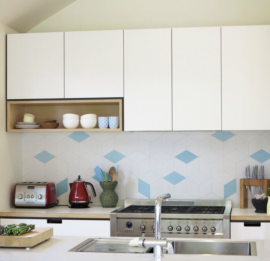 Kitchen Tiles Melbourne diamond tile detail in cantilever kitchen 1 | tiles | pinterest