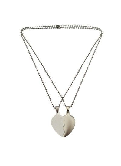 791b51622e MENS FASHION JEWELLERY HEART COLLECTION SILVER VALENTINE DAY SPECIAL GIFT  FOR LOVERS UNDIVIDED ATTENTION SWEET HEART PENDANT WITH CHAIN