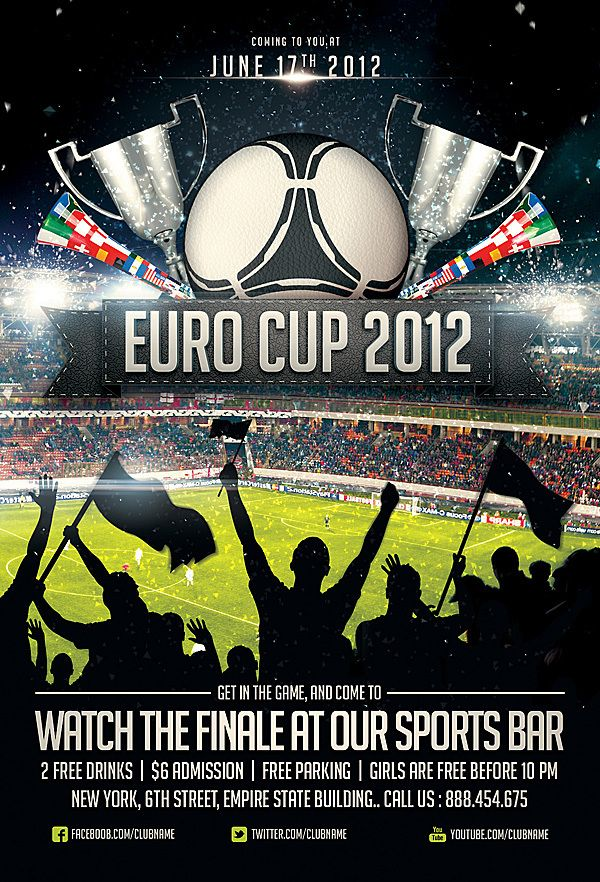 Collection of Sports Flyer Templates on Behance Soccer design