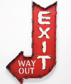 exit street sign by i love retro | notonthehighstreet.com