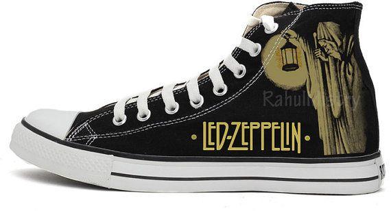 7f4286d87e5b16 Led Zeppelin Custom-Made Converse Shoes