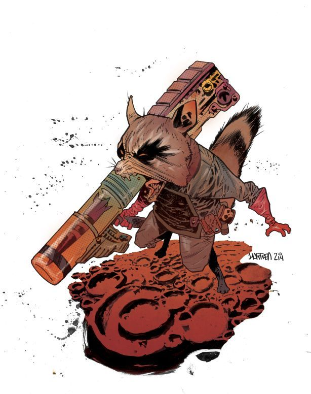 Rocket Raccoon by James Harren *  (http://37.media.tumblr.com/9b5939413ff2c3f9177781d0a977b31b/tumblr_n82qpjmgE51s2lswpo1_1280.jpg) ★ || CHARACTER DESIGN REFERENCES | マンガの描き方 • Find more artworks at https://www.facebook.com/CharacterDesignReferences  http://www.pinterest.com/characterdesigh and learn how to draw: #concept #art #animation #anime #comics || ★