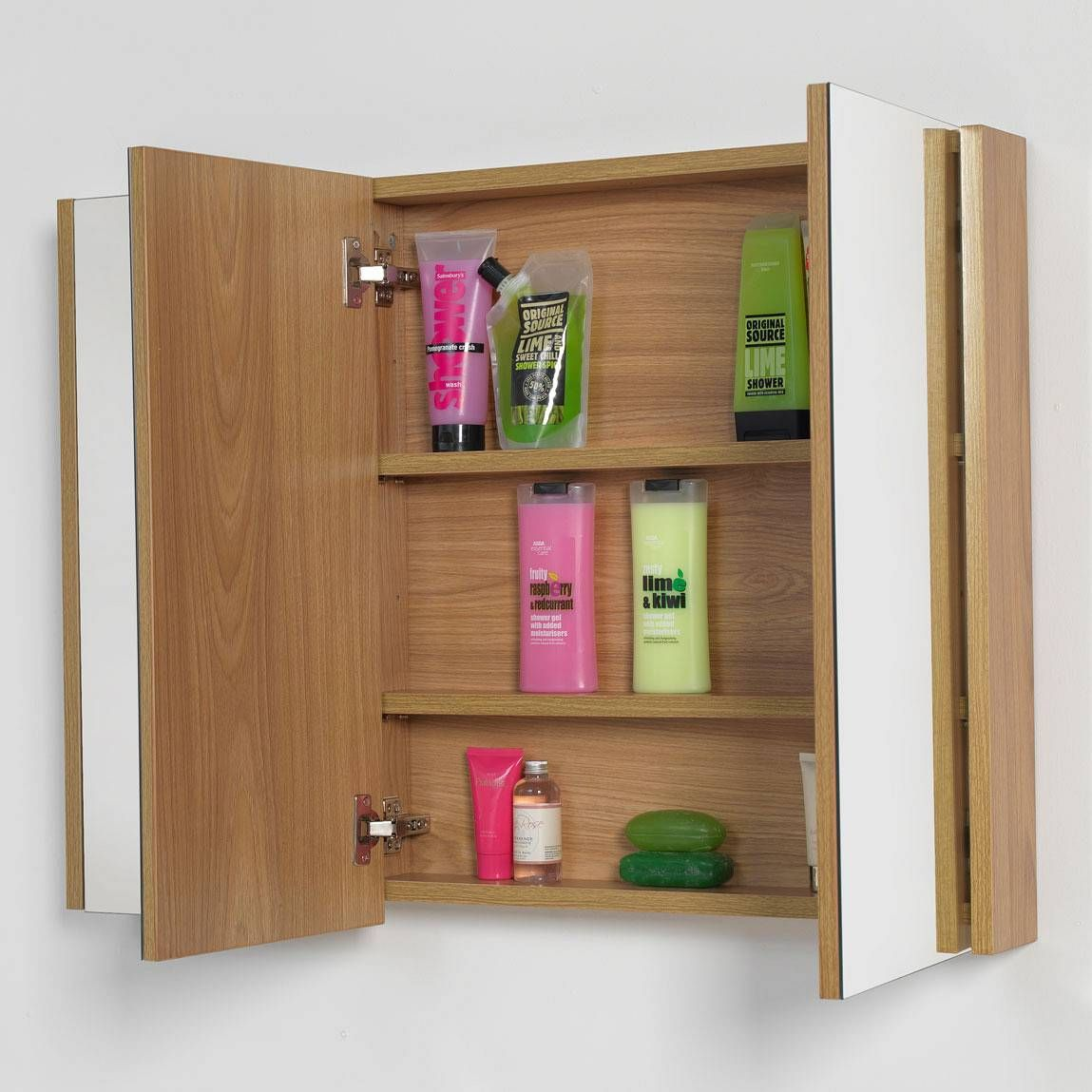 3 Door Mirrored Bathroom Cabinet Odessa Oak 3 Door Mirror Cabinet Ensuite 2013 Bathroom