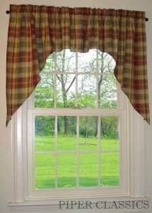 Country Swag Curtains Saffron Swags Piper Classics
