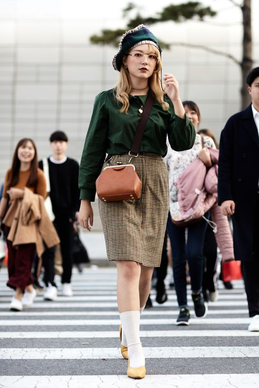 Street Fashion Seoul Fashion Week Wiosna Lato 2018 Seoul Fashion Week Seoul Fashion Korean Street Fashion