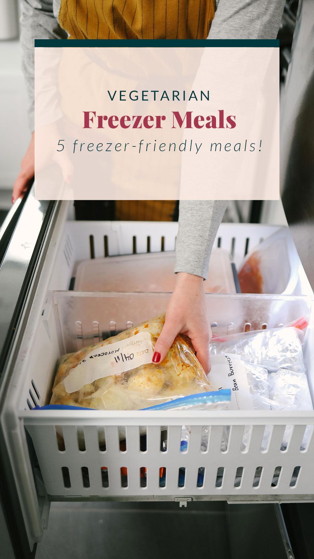 Vegetarian Freezer Meals (+ Grocery List!) - Fit Foodie Finds -   19 meal prep recipes vegetarian freezer ideas