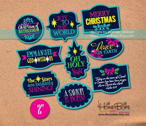 Christmas logos digital plaques! #digital #scrapbooking #christmas #logos #printable #clipart #holiday