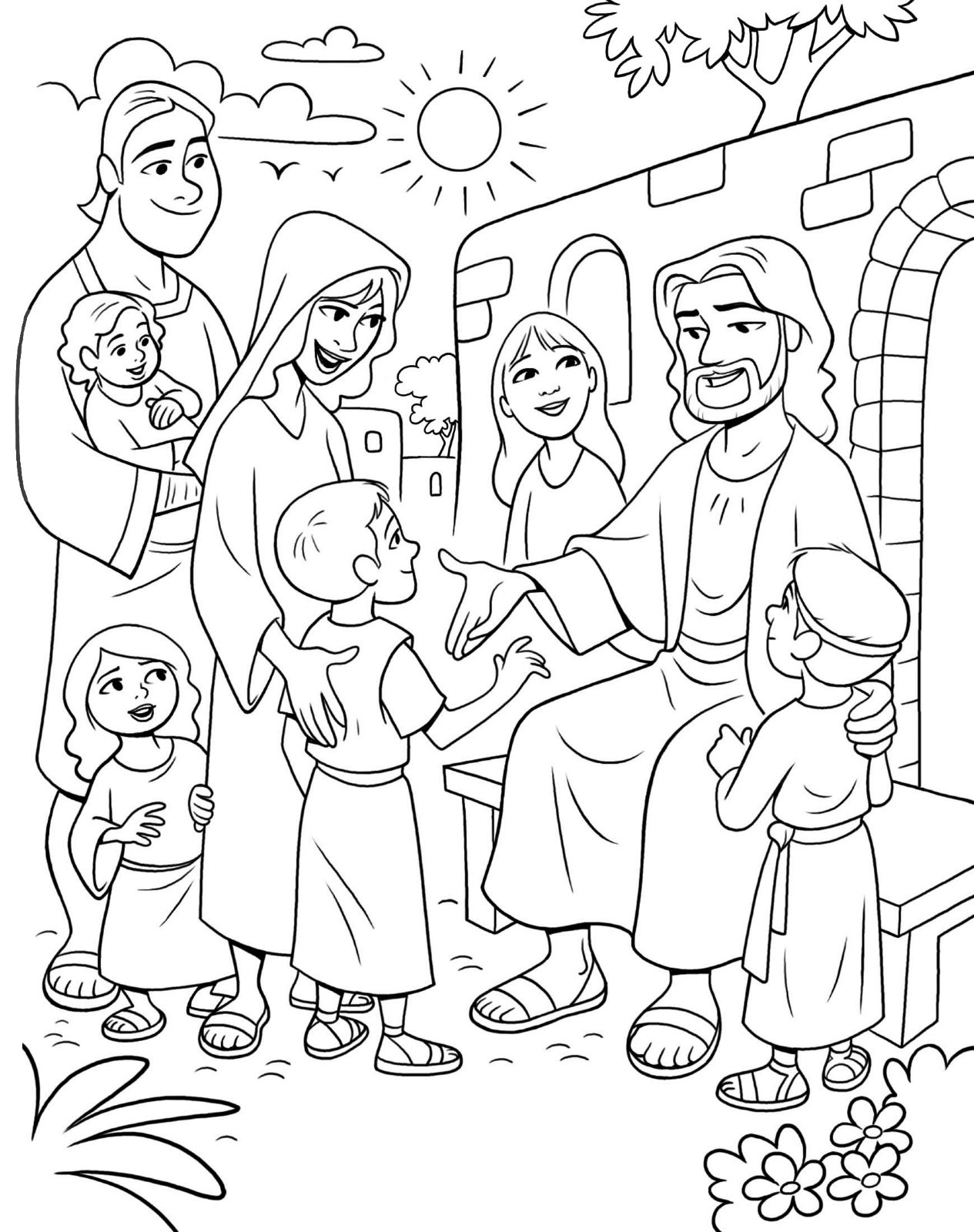 Pin By Angela Slaughter On Preschool Frogs Jesus Coloring Pages Sunday School Coloring Pages Lds Coloring Pages